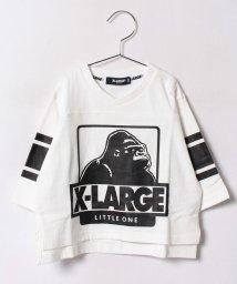 XLARGE KIDS/袖ライン浅V OG7分袖Tシャツ/500470923