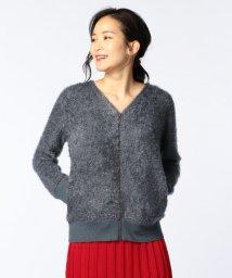 Rie Miller/フェザー糸ジップアップカーディガン/500476022