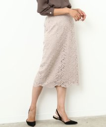 ROPE' mademoiselle/【otonaMUSE10月号掲載】モールフラワーレースタイトスカート/500482941