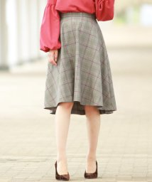 QUEENS COURT/【レセプション限定】CHECK ME SKIRT/500488255