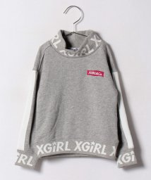 X-girl Stages/リブロゴ 長袖クルーネックスウェット/500479833