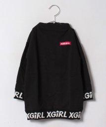 X-girl Stages/リブロゴスウェットワンピース/500479837