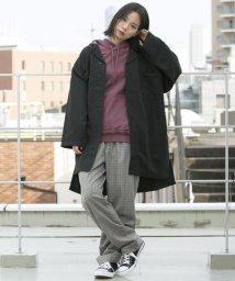 DOUBLE NAME/長袖ノーカラーミリタリーコート/500490281