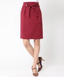 Viaggio Blu/≪大きいサイズ≫マットスエードベルト付きタイトスカート/500490311