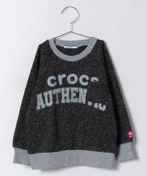 crocs(KIDS WEAR)/CROCSメランジ裏起毛トレーナー/500475127