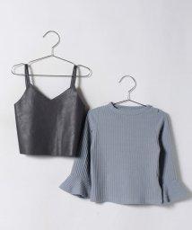 b-ROOM/Tシャツ×合皮キャミセット/500483388