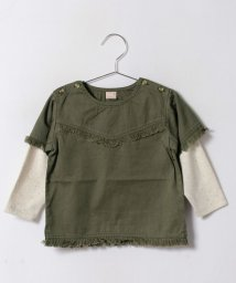 petit main/レイヤードフリンジシャツ/500483404