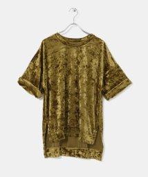 KBF/クラッシュベロアBIG Tシャツ/500509583
