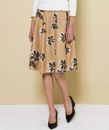 QUEENS COURT/【大きいサイズ】フラワージャガードスカート/500512020