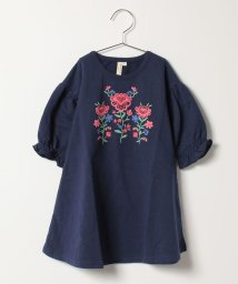 LAGOM/花柄刺繍プリントワンピース/500488882
