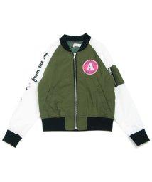 ALGY/袖ロゴ MA-1ブルゾン/500510331