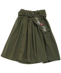 ALGY/ベルト付きミディ丈スカート/500510334