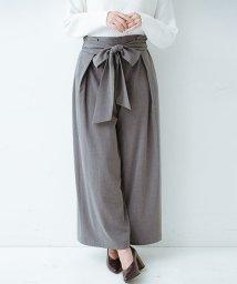 haco!/スカート気分ではきたい ウエストリボンのボリュームパンツ/500512869