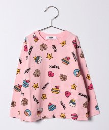 X-girl Stages/キラッキー&スイーツ長袖Tシャツ(90〜130cm)/500470908
