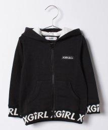 X-girl Stages/リブロゴ スウェット長袖ジップパーカー/500483414