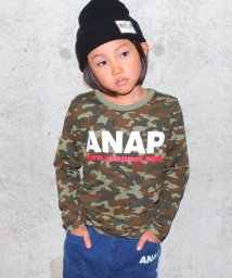 ANAP KIDS/アドレスロゴロングTシャツ/500489799