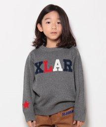 XLARGE KIDS/ロゴワッペンLSセーター/500491722