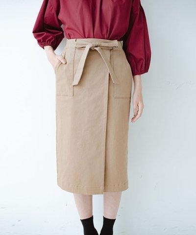 【haco!(ハコ)】パッと着るだけで女らしくてかっこいい ラップ風ストレッチスカート by que made me
