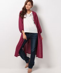 a.v.v/ロングカーディガン刺繍Tシャツセット/500491423