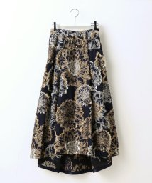 Ravissant Laviere/フラワーカットジャガードスカート/500511978