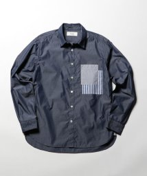 NOLLEY'S goodman/胸ポケット切り替えレギュラーカラーシャツ/500512379