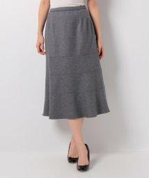 Leilian/ワンカラーフレアスカート/10259599N