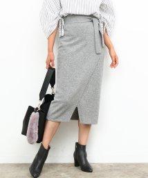 ROPE'/フロントスリットカシミヤタッチスカート/500525052