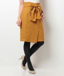 JUSGLITTY/巻き風リボンスカート 26キャメル 0/SS/10259876N