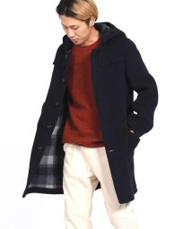 SHIPS JET BLUE/LONDON TRADITION×SHIPS JET BLUE: ボタンフロント ロングダッフルコート/500527899