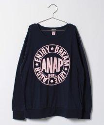 ANAP GiRL/BIGロゴロングTシャツ/500513250