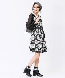 axes femme/薔薇×ストライプ柄襟付きOP/500512301