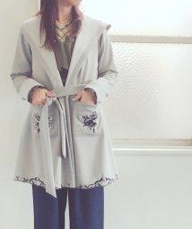 axes femme/刺繍入りコーディガン/500516391