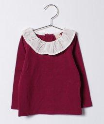 petit main/フリルネックTシャツ/500523207