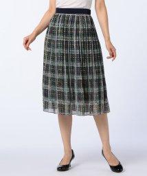 NOLLEY'S/ドットチェックプリーツスカート/500524770