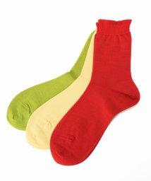 IENA/babaco 3ペアカラーソックス(緑、黄、橙)/500543090
