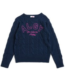 ALGY/ALGY刺繍ケーブルニット/500525132