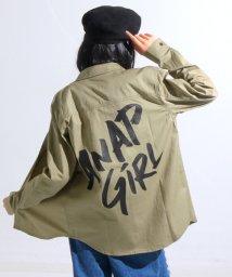 ANAP GiRL/BACKロゴミリタリーシャツ/500520261