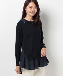 axes femme/シャツレイヤード風ニットPO/500518175