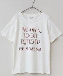 REAL CUBE/ロゴデザインオーガニックコットンTシャツ/500424367