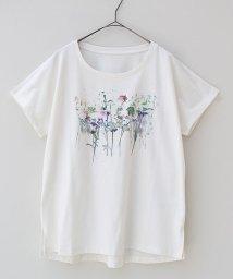 REAL CUBE/にじみフラワープリントTシャツ/500424368