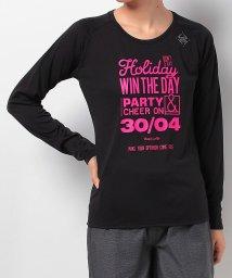 Number/ナンバー/レディス/RUNラグンスリーブロゴプリントTシャツ/500551422