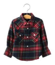 SHIPS KIDS/SHIPS KIDS:チェック ウエスタン シャツ(80~90cm)/500552035