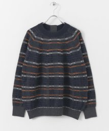 URBAN RESEARCH DOORS/unfil checked blend sweater/500556316