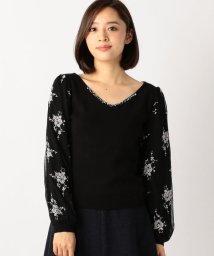 MISCH MASCH/チュール袖刺繍ニット/500454251