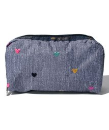 LeSportsac/RECTANGULAR COSMETIC デニムハート/LS0019099