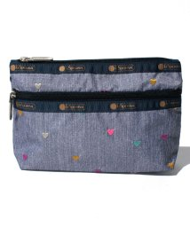 LeSportsac/COSMETIC CLUTCH デニムハート/LS0019101