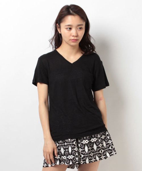 WEGO(ウィゴー)/WEGO/リネンモダールVネックTシャツ/BS16SM04L006_img04
