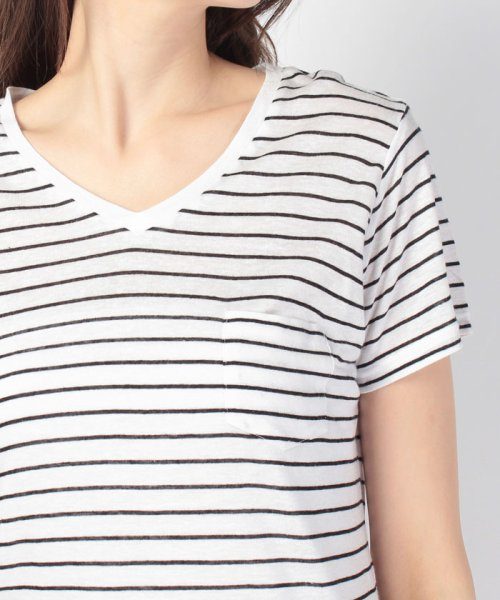 WEGO(ウィゴー)/WEGO/リネンモダールVネックTシャツ/BS16SM04L006_img08