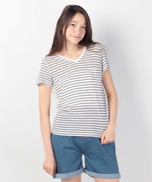WEGO(ウィゴー)/WEGO/リネンモダールVネックTシャツ/BS16SM04L006_img13