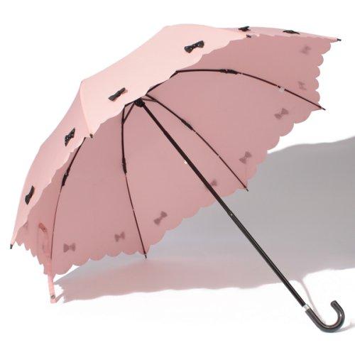 pink trick(ピンクトリック)/雨晴兼用 折傘 (UVカット&軽量) カラフルリボン/34145_img01